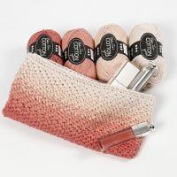 Gehaakte make-up tas met Ombre-effect