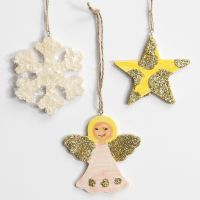 Hangende Kerstdecoraties met Glitter
