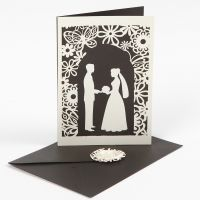 Uitnodiging voor huwelijk met gestanst karton