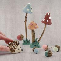 Een bosbodem van Silk Clay en natuurlijke materialen