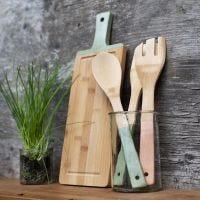 Gedecoreerd bamboe keukengerei