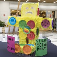A creative illustration of a Corona monster