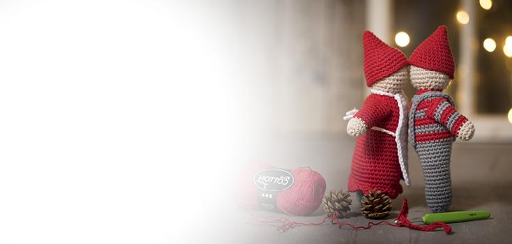 Gehaakte en gebreide kerstdecoraties