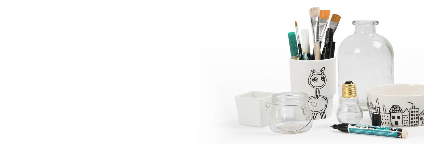 Porselein- en glasdecoratie